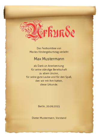 Mustertexte für Ehrenurkunden | urkunden-online.de