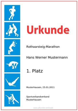 Sporturkunde selber erstellen bei urkunden-online.de