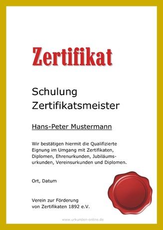 Mustertexte für Diplome und Zertifikate | urkunden-online.de
