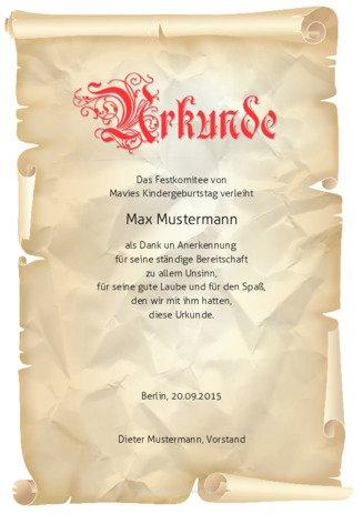 Urkunden selbst erstellen und drucken | urkunden-online.de