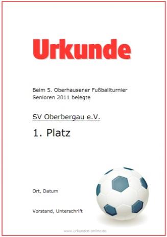 Sporturkunde Hier Selber Erstellen Urkunden Online De