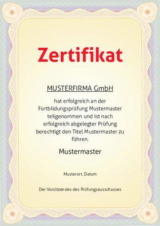 Teilnahme-Zertifikat Vorlagen selber ausdrucken | urkunden-online.de
