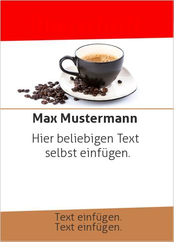 Flyer Tasse Kaffee (Flyer, Foto)